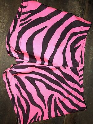 Girls Motion Wear Pink And Black Dance/Gymnastics Shorts Child Large