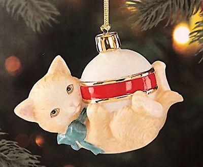 Lenox Furry Friends Playful Cat Christmas Ornament NIB