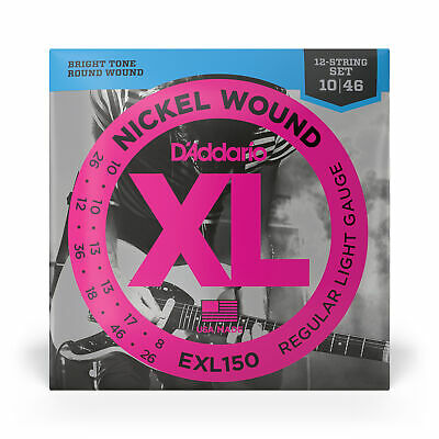 D'Addario EXL150 Nickel Wound 12-String Electric Guitar Strings Reg Light 10-46
