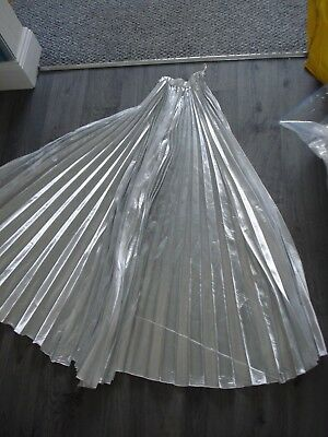1 X Silver Cape Used Fancy Dress