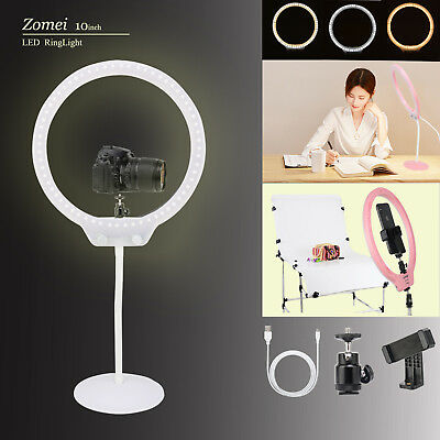 """Zomei LED Ringlicht 10"""" Photography Leselampe dimmbare beleuchtung USB Lampen"""