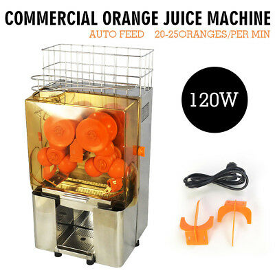 Stainless Steel Commercial Auto Feed Orange Juicer Citrus Juice Machine Squeezer