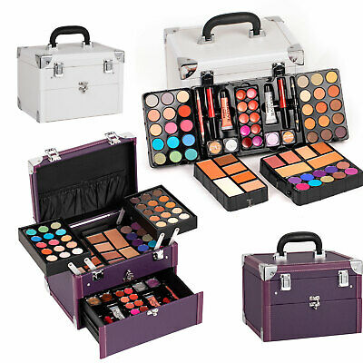 Professional Mixed Makeup Kit Cosmetic Set Eyeshadow Palette LipGloss Brush Case