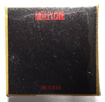 MOTLEY CRUE Shoot At The Devil Square Pin Badge 32mm VTG?(not patch shirt)