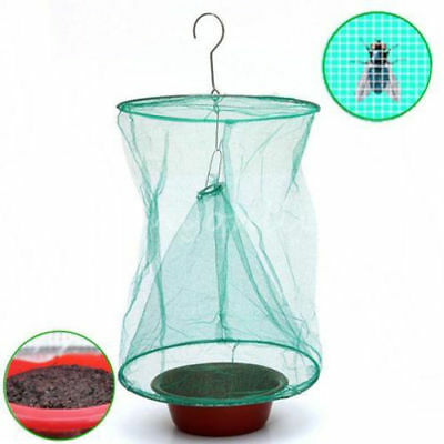 Outdoor Garden Fly Bug Insect Net Flytrap Pest Catcher Cage Killer Trap Tools