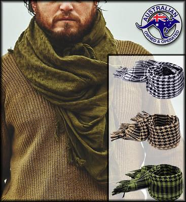 TACTICAL SCARF Shemagh Mens Womens Survival Airsoft Palestinian Wrap Afghan Neck