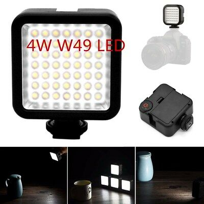 49 LED Vision Video Light Rechargeable Lamp For Camera Camcorder S1R