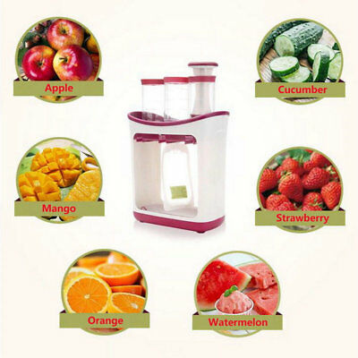 Infant Baby Food Feeding Station Maker Pouches Homemade Fresh Squeeze Storage BL