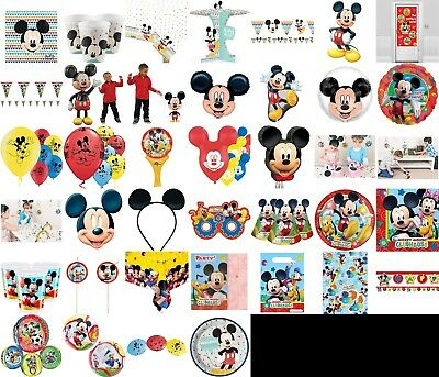 Mickey Mouse Birthday Party Decorations Table Wear Children Summer Disney Bulk