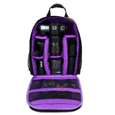 DSLR SLR Camera Backpack Bag Case Waterproof Shockproof for Canon EOS Nikon Son