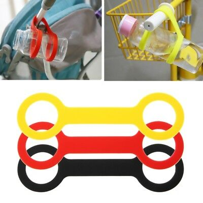 Fixed Bottle Rope No Drop Baby Bottle Cup Silicone Holder Leash For Stroller