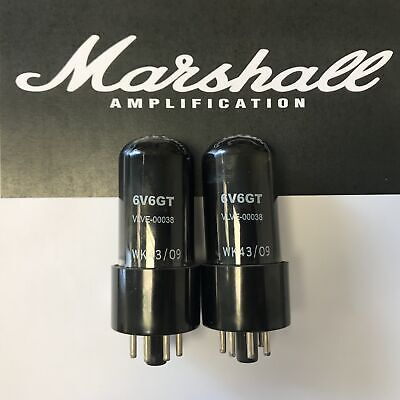 6V6Gt Original Marshall Spares Valve/tube Matched Pair (2Pcs)
