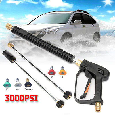 3000 PSI High Pressure Power Washer Car Water Spray Gun Wand/Lance 5 Nozzles Tip