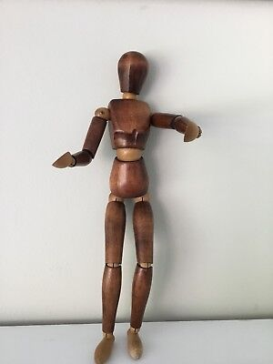 Rare Vintage Artists Lay Figure Mannequin Wooden Midcentury Posable 16 Inches