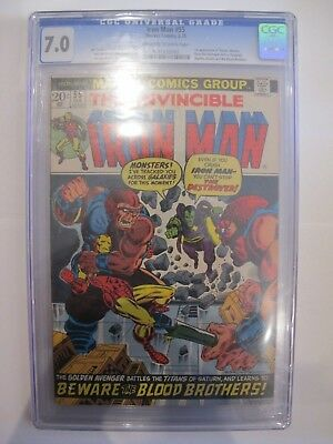 Marvel Comics Group The Invincible Iron Man #55 7.0 Blue CGC Graded