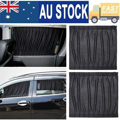 2x Universal Sun Shades Sock Rear Seat Curtain Car Window Sox Baby Protection AU