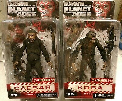 NECA Dawn of the Planet of the Apes Caesar & Koba - Series 2