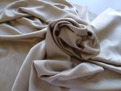 3111 TISSU HAUTE COUTURE superbe satin double faces poly viscose tailleur 3.00 m