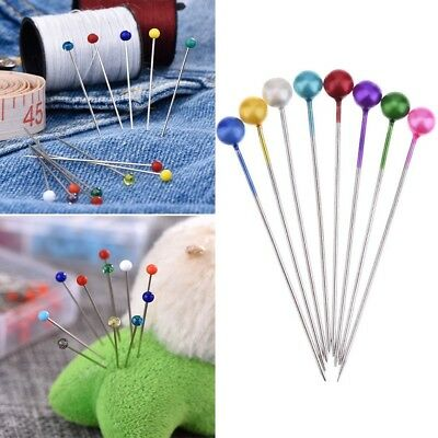 100 Wedding Dress Crafts Pearl Round Head Straight Sewing Needles Pins Corsage*