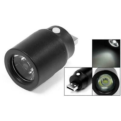 Black Plastic White Light Press Button USB LED Lamp Torch best*