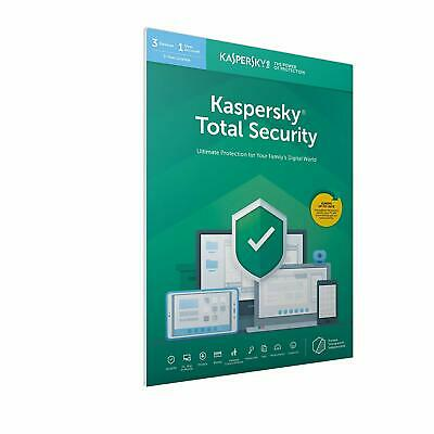 Kaspersky Total Security 2019 for 3 PC / Devices 1 Year Download Key Emailed EU