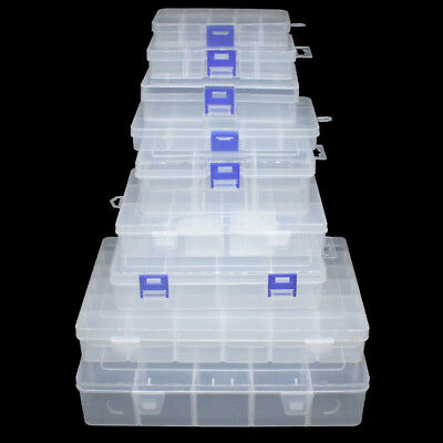 Plastic Storage Box Container Case Compartments Fishing Lure Hook Bait Tackle