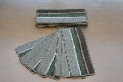 14 Stair Case Treads Pad Funky Green Stripe Pads! 14 Large Stripe Stair Pads