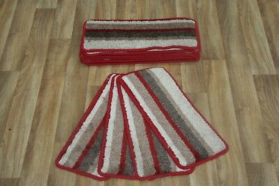 14 Stripe Stair Case Treads Pad Angus Red Pads! 14 Large Stripe Stair Pads
