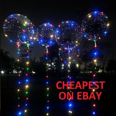 LED Lights Clear Bubble Helium Balloons Wedding Birthday Party Decorations BoBo