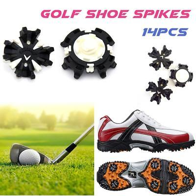 14PCS Replacement Soft Fast Twist Studs Golf Shoes Spikes Pin Clamp Cleat Screw