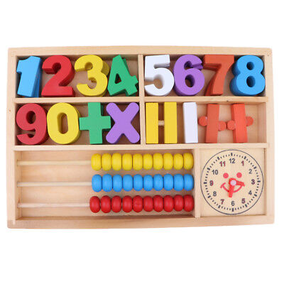Box of Wooden Digital Numbers Mathematics Learning Kids Educational Toy Gift