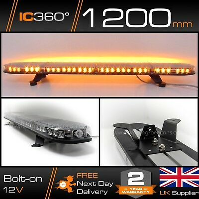 IC360 LED / SMD Recovery Amber Tow Truck Narrow Lightbar 1200mm 120cm 1.2m 48""