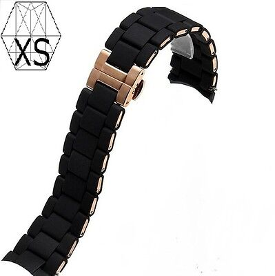 Replacement Emporio Armani Mens Rubber Strap AR5905 Complete with Clasp + pins!