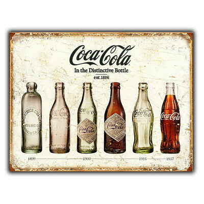 METAL SIGN WALL PLAQUE Coca Cola In Bottles Retro poster Advert Coke PUB BAR