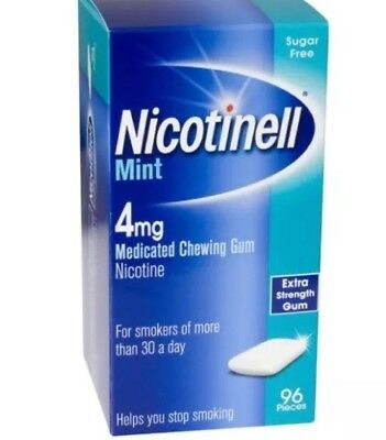 Nicotinell Mint Medicated Gum 4mg - 96 Pieces