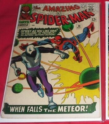 Amazing Spiderman 36 #1966 When Falls The Meteor And Great Start Price 1St