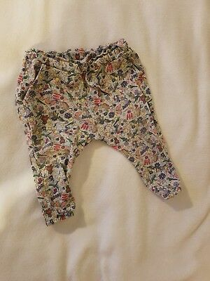 Next Baby Girl 3-6 Month Cartoon Leggins Hareem Style Trousers