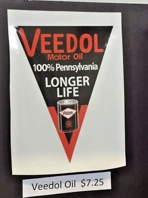 VEEDOL vintage oil sticker for race cars others