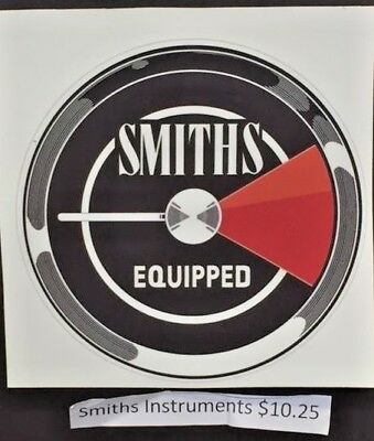 Smiths Equipped vintage sticker for race cars, MGB GT factory race car