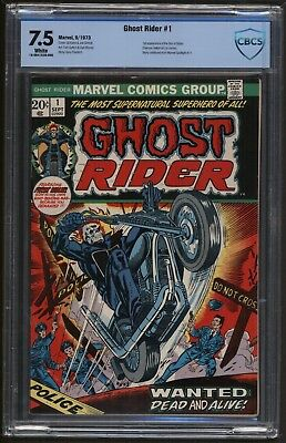 Ghost Rider #1 CBCS 7.5 WP (Sep 1973, Marvel) White pages  *not CGC
