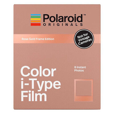 Polaroid Originals I-Type COLOUR Film with ROSE GOLD BORDER