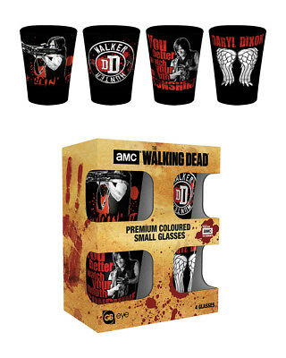 The Walking Dead Daryl Dixon Coloured Glass Shot Glasses