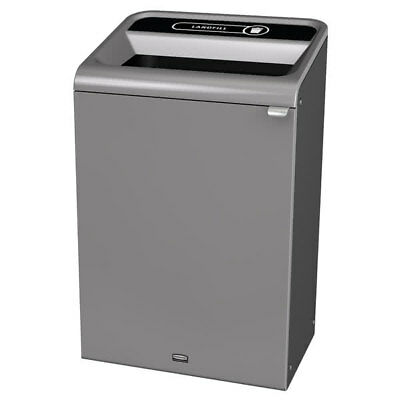 Rubbermaid 33 Gal Configure Indoor Recycling Waste Receptacle 1961628 Gray