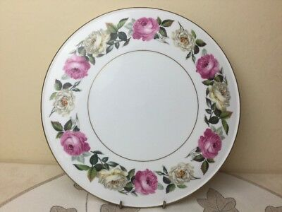 Royal Worcester Royal Garden Elgar Large Gateaux / Cheese Platter Mint Condition