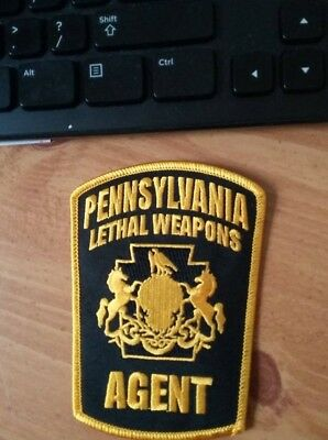 2 PA Lethal Weapons Agent Patches, Security Patch/Badge - NEW