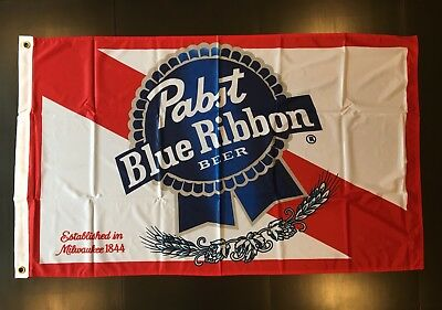 Pabst Blue Ribbon Beer Flag Banner PBR New Unused