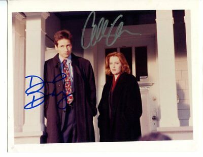the x files DAVID DUCHOVNY & GILLIAN ANDERSON autograph HAND SIGNED 800