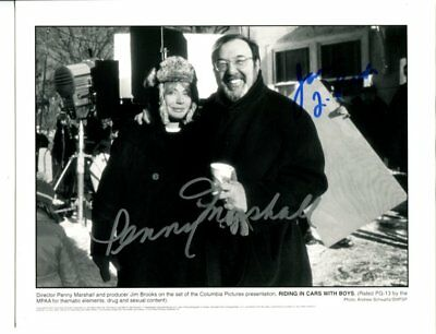 director JAMES L BROOKS & PENNY MARSHALL autograph HAND SIGNED 817