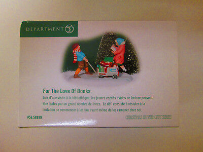 Dept 56    For the Love of Books    #58999