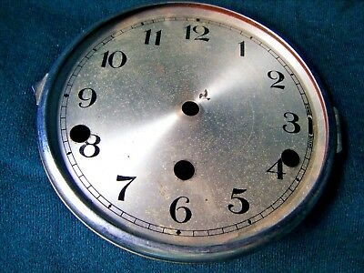 "Vintage Chrome Bezel, Dial Westminster Clock 6"" - Spares Parts Repair"